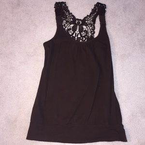 Brown racerback tank top M